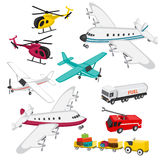 Reeks luchthavenelementen Stock Afbeeldingen