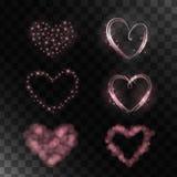 Reeks magische harten vector illustratie