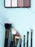 Reeks make-upBorstels Stock Afbeeldingen