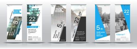 Reeks malplaatjes met een ontwerp van verticale banners Royalty-vrije Stock Foto