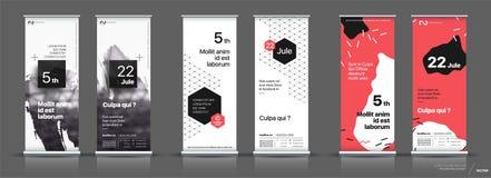 Reeks malplaatjes met een ontwerp van verticale banners Stock Afbeelding