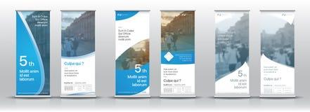 Reeks malplaatjes met een ontwerp van verticale banners Royalty-vrije Stock Foto's