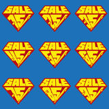 Reeks malplaatjes van de Verkoop percents banner Stock Afbeelding