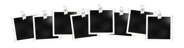 Reeks malplaatjes van het fotokader met metaalstickers royalty-vrije illustratie
