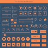 Reeks malplaatjes van vlakke UI-elementen Royalty-vrije Stock Foto's