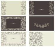 Reeks malplaatjes voor adreskaartjes Royalty-vrije Stock Afbeelding