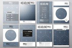 Reeks malplaatjes voor brochure, vlieger of boekje Abstracte bloemen bedrijfsachtergrond, moderne modieuze vectortextuur vector illustratie
