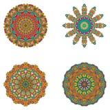 Reeks mandalas Vectormandalainzameling voor uw ontwerp Stock Foto's