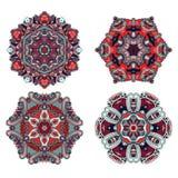 Reeks mandalas Vectormandalainzameling voor uw ontwerp Royalty-vrije Stock Afbeeldingen