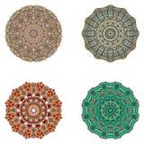 Reeks mandalas Vectormandalainzameling voor uw ontwerp Stock Fotografie