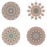 Reeks mandalas Vectormandalainzameling voor uw ontwerp Royalty-vrije Stock Fotografie