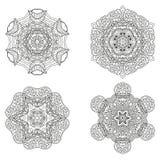Reeks mandalas Vectormandalainzameling voor uw ontwerp Royalty-vrije Stock Afbeelding