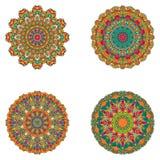 Reeks mandalas Vectormandalainzameling voor uw ontwerp Stock Afbeelding