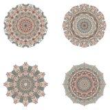 Reeks mandalas Vectormandalainzameling voor uw ontwerp Stock Afbeeldingen