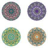 Reeks mandalas Vectormandalainzameling voor uw ontwerp Royalty-vrije Stock Foto