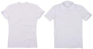 Reeks mannelijke overhemden Geïsoleerdj op witte achtergrond Stock Afbeelding