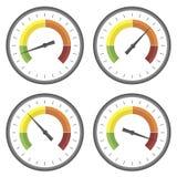 Reeks Manometerpictogrammen Stock Afbeeldingen