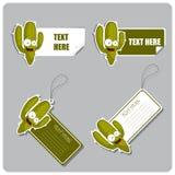Reeks markeringen en stickers met cactus. Royalty-vrije Stock Afbeelding