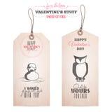 Reeks markeringen van de de daggift van Valentine Stock Fotografie