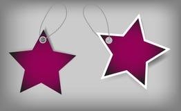 Reeks Markeringen van de Kerstmisverkoop. Vectorillustratie Stock Afbeelding