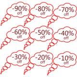 Reeks markeringen van de speciale aanbiedingverkoop Stock Afbeeldingen