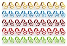 Reeks Markeringen van de Verkoop. Vector illustratie Royalty-vrije Stock Foto