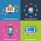 Reeks Marketing Ontwerpconcepten Royalty-vrije Stock Afbeeldingen