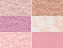 Reeks marmeren texturen royalty-vrije stock foto's