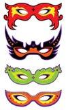 Reeks maskers Royalty-vrije Stock Foto's