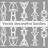 Reeks massieve decoratieve vectorgrenzen Royalty-vrije Stock Fotografie