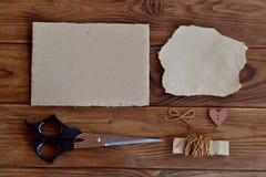 Reeks materialen voor kinderencreativiteit Stock Foto