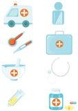 Reeks medische en gezondheidspictogrammen Royalty-vrije Stock Foto