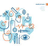 Reeks medische pictogrammen Royalty-vrije Stock Afbeelding