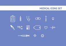 Reeks medische pictogrammen stock illustratie