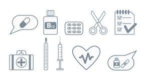 Reeks medische pictogrammen vector illustratie