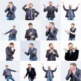 Reeks menselijke emoties royalty-vrije stock afbeelding
