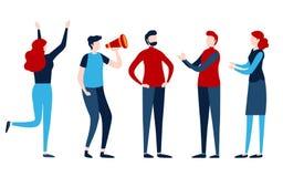 Reeks mensen Groep, Team, Groepswerk, Persoon Vlakke grafische beeldverhaalillustratie stock illustratie
