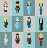 Reeks mensenpictogrammen Stock Foto's