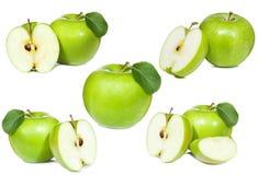 Reeks met groene appel Stock Afbeeldingen