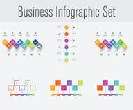 Reeks met infographics Stock Foto's