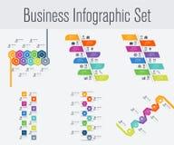 Reeks met infographics Royalty-vrije Stock Afbeeldingen