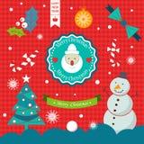 Reeks met Kerstmisemblemen Royalty-vrije Stock Fotografie