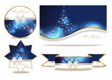 Reeks met Kerstmiskaarten Stock Afbeelding