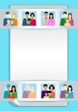 Reeks met mensen, familie, electoraat enz. Stock Fotografie