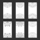 Reeks met symmetrische mandala Stock Afbeelding