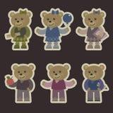 Reeks met teddyberen stock afbeelding
