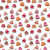 Reeks met verschillende cakes Royalty-vrije Stock Foto