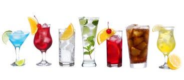 Reeks met verschillende cocktails Stock Foto's