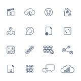 Reeks met verschillende pictogrammen Stock Foto's