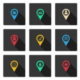 Reeks met vlakke pictogrammen Royalty-vrije Stock Afbeelding